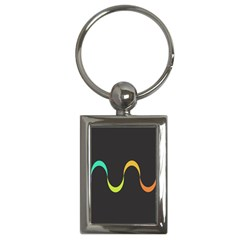 Artwork Simple Minimalism Colorful Key Chains (Rectangle)