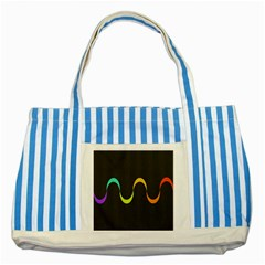 Artwork Simple Minimalism Colorful Striped Blue Tote Bag