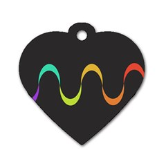 Artwork Simple Minimalism Colorful Dog Tag Heart (Two Sides)