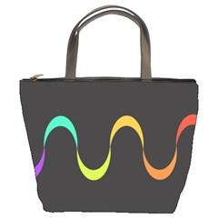 Artwork Simple Minimalism Colorful Bucket Bags
