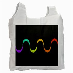 Artwork Simple Minimalism Colorful Recycle Bag (One Side)