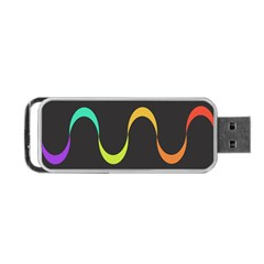 Artwork Simple Minimalism Colorful Portable USB Flash (One Side)