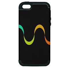 Artwork Simple Minimalism Colorful Apple iPhone 5 Hardshell Case (PC+Silicone)
