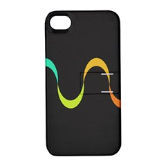 Artwork Simple Minimalism Colorful Apple iPhone 4/4S Hardshell Case with Stand