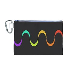 Artwork Simple Minimalism Colorful Canvas Cosmetic Bag (M)