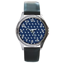 Another Rain Day Water Blue Round Metal Watch