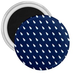 Another Rain Day Water Blue 3  Magnets