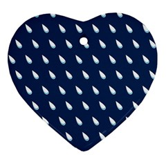 Another Rain Day Water Blue Ornament (Heart)