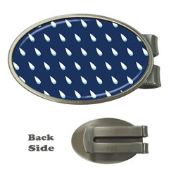 Another Rain Day Water Blue Money Clips (Oval)
