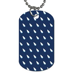Another Rain Day Water Blue Dog Tag (One Side)