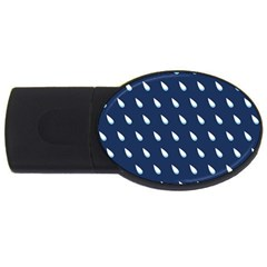Another Rain Day Water Blue USB Flash Drive Oval (4 GB)