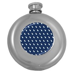 Another Rain Day Water Blue Round Hip Flask (5 oz)
