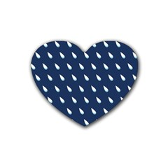 Another Rain Day Water Blue Rubber Coaster (Heart)