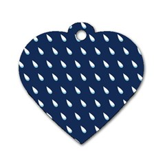 Another Rain Day Water Blue Dog Tag Heart (Two Sides)