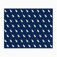 Another Rain Day Water Blue Small Glasses Cloth (2-Side)