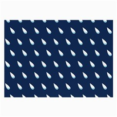 Another Rain Day Water Blue Large Glasses Cloth (2-Side)