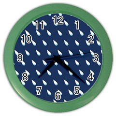 Another Rain Day Water Blue Color Wall Clocks