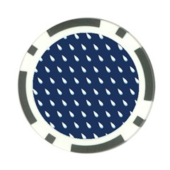 Another Rain Day Water Blue Poker Chip Card Guard