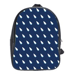 Another Rain Day Water Blue School Bags(Large)