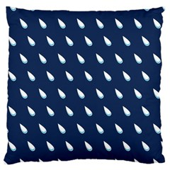 Another Rain Day Water Blue Large Cushion Case (Two Sides)