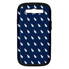 Another Rain Day Water Blue Samsung Galaxy S III Hardshell Case (PC+Silicone)
