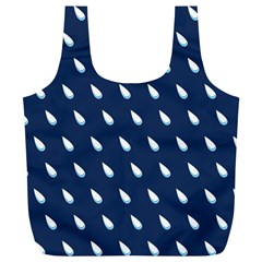 Another Rain Day Water Blue Full Print Recycle Bags (L)
