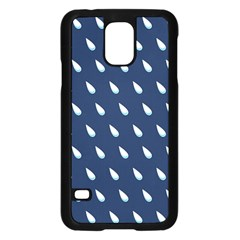 Another Rain Day Water Blue Samsung Galaxy S5 Case (Black)