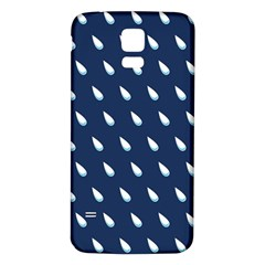 Another Rain Day Water Blue Samsung Galaxy S5 Back Case (White)