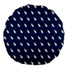 Another Rain Day Water Blue Large 18  Premium Flano Round Cushions