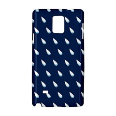 Another Rain Day Water Blue Samsung Galaxy Note 4 Hardshell Case