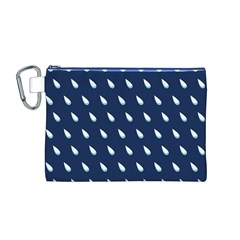 Another Rain Day Water Blue Canvas Cosmetic Bag (M)