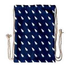 Another Rain Day Water Blue Drawstring Bag (Large)
