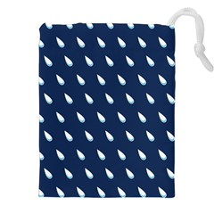 Another Rain Day Water Blue Drawstring Pouches (XXL)