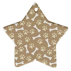 Background Bones Small Footprints Brown Ornament (Star)