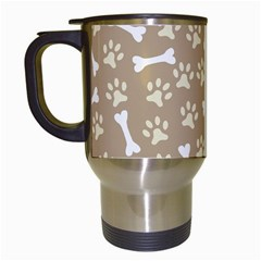 Background Bones Small Footprints Brown Travel Mugs (White)