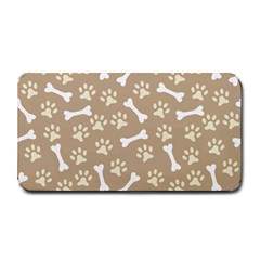 Background Bones Small Footprints Brown Medium Bar Mats