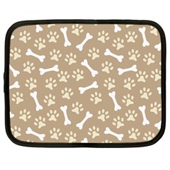 Background Bones Small Footprints Brown Netbook Case (Large)