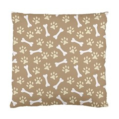 Background Bones Small Footprints Brown Standard Cushion Case (Two Sides)