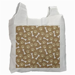 Background Bones Small Footprints Brown Recycle Bag (Two Side)