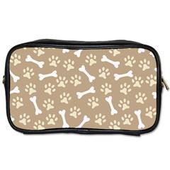 Background Bones Small Footprints Brown Toiletries Bags 2-Side