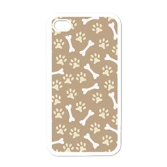 Background Bones Small Footprints Brown Apple iPhone 4 Case (White)