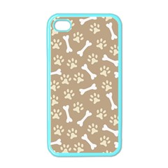 Background Bones Small Footprints Brown Apple iPhone 4 Case (Color)