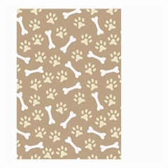 Background Bones Small Footprints Brown Small Garden Flag (Two Sides)