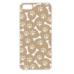 Background Bones Small Footprints Brown Apple iPhone 5 Seamless Case (White)