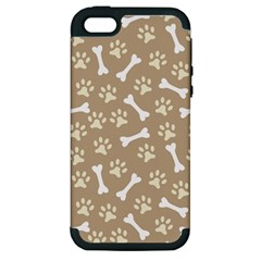 Background Bones Small Footprints Brown Apple iPhone 5 Hardshell Case (PC+Silicone)