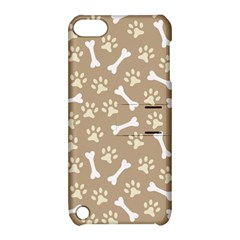 Background Bones Small Footprints Brown Apple iPod Touch 5 Hardshell Case with Stand