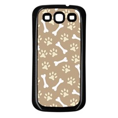Background Bones Small Footprints Brown Samsung Galaxy S3 Back Case (Black)