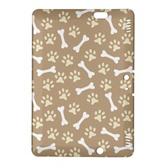 Background Bones Small Footprints Brown Kindle Fire Hdx 8 9  Hardshell Case