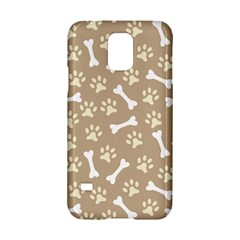 Background Bones Small Footprints Brown Samsung Galaxy S5 Hardshell Case