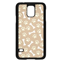 Background Bones Small Footprints Brown Samsung Galaxy S5 Case (Black)